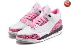AIR JORDAN 3 RETRO 318376-071 White/Pink Coupons Sale