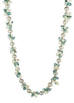 Aqua and White Keshi Cultured Pearl with Grey Potato Freshwater Cultured Pearl Necklace, 18 Amazon Curated Collection,http://www.amazon.com/dp/B007IZ3D86/ref=cm_sw_r_pi_dp_1B9Lrb95931A46BC