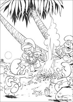 transmissionpress: 12 Smurf Coloring Pages