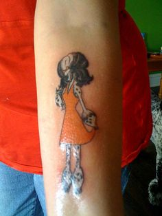 Poodle tattoo