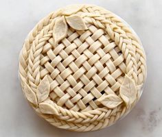 """Braided ,Weaved and Leaves""Pie Crust Art by Joy Home -I Love Pie Album"