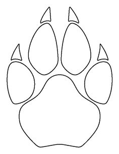 Cougar paw print pattern. Use the printable outline for crafts, creating stencils, scrapbooking, and more. Free PDF template to download and print at http://patternuniverse.com/download/cougar-paw-print-pattern/