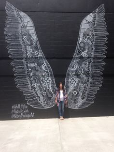 What Lifts You art by Kelsey Montague here in the Gulch Area of Nashville!  Wings of art! Hometown beauty!