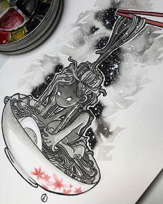 Noodles #noodles #art #illustration #watercolor #sketch #ink #cutegirl #drawing #inking #manga #sketching #dorothyg #dorothygranjo Noodles, Manga, Ink Art, Cute Girls, Sketches, Watercolor, Instagram, Drawings, Illustration