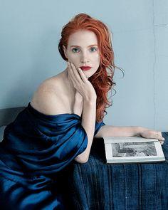 Jessica Chastain by Annie Leibovitz for Vogue Magazine, 2013