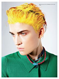 LOVE the painted HAIR!! Herring & Herring use hair as a paintbrush for their latest beauty story featured in Kurv Magazine.