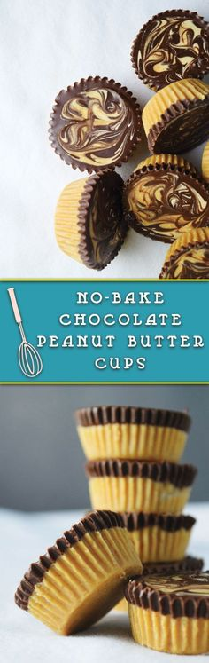 no bake chocolate peanut butter cups - easy NO BAKE peanut butter cups, perfect healthy treat! These are so good that I always keep some to munch on! Guilt free snacking!