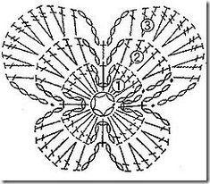 Solo esquemas y diseños de crochet: MARIPOSAS APLIQUES