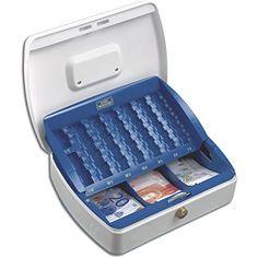 BURG-W�CHTER Geldz�hlkassette mit komplettem EURO-Einsatz, Flache Form, Mit Schloss, Office ZK 2307
