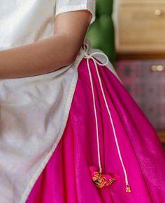 Pastel Yellow Hand Block Printed Maxi Dress and Pink Cotton Skirt