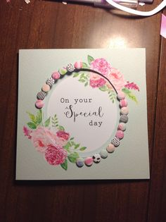Handmade card using Craftwork Cards Heritage Rose collection by Mary Gillingham
