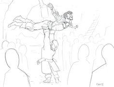 "cafiffle: ""Hawke's arrival at Skyhold """