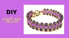 Learn beading with this easy beading tutorial. DIY Beaded Bracelet