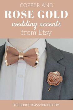 Rose gold and copper wedding accents are the latest trends in weddings. Take a look at our top picks from Etsy featuring these gorgeous colors. Maroon Wedding, Gold Wedding Theme, Gold Wedding Decorations, Purple Wedding, Dream Wedding, Wedding Ideas, Wedding Inspiration, Rose Gold Wedding Dress, Wedding Stuff