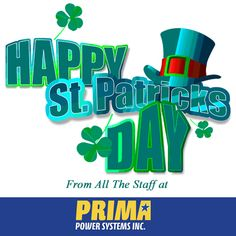 Top of the mornin' to ya! Happy St. Patrick's Day everyone! Don't forget to wear #Cummins Green! #StPaddysDay