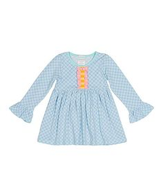 Look what I found on #zulily! Aqua Dot Tunic - Infant, Toddler & Girls #zulilyfinds