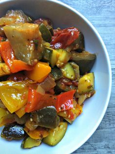 Ratatouille: a flavorful vegetarian dish. Perfect for meatless Monday // A Cedar Spoon
