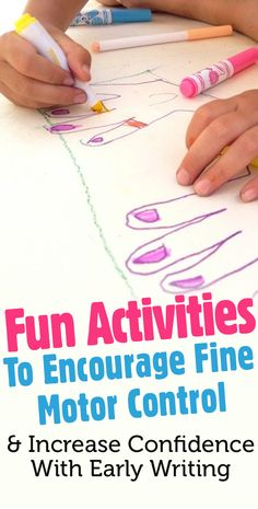 Fun Activities To Encourage Fine Motor Control And Increase Confidence With Early Writing Foundation Stage, Increase Confidence, Eyfs, Mark Making, Reception Ideas, Pre School, Fine Motor, Fun Activities, Encouragement