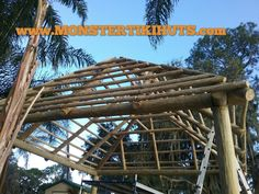 Coral Springs Florida Tiki Hut & Chickee Rethatching - http://www.monstertikihuts.com/coral-springs-florida-tiki-hut-chickee-rethatching/