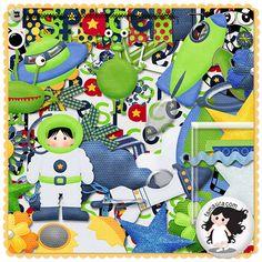 Kit - Brincando no Espaço by Fa Maura
