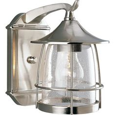 Front Porch | Home Depot | Prairie Brushed Nickel Lantern, Small