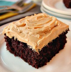 Chocolate Cake with Peanut Butter Frosting