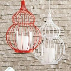 Solid coloured hanging lanterns are a lovely addition to any space.