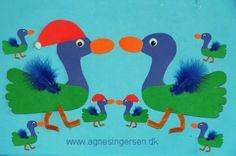 Ænder af fodaftryk fra min blog:http://agnesingersen.dk/blog/fodaender - ducks -Enten - Christmas, handprint, footprint,Weihnachten, kids craft,Kinderbastelideen