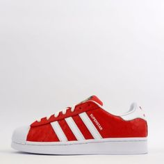 wholesale dealer e1c92 b3f0a adidas Originals Superstar Animal Mens Shell Toe Trainers Shoes Sneakers Red