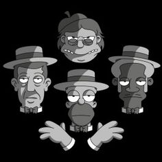 The Be Sharps Rhapsody - Design par Enrico Ceriani - Wistitee Futurama, Simpsons Drawings, Lego Simpsons, Cultura Pop, Disney Cartoons, Cartoon Art, Bart Simpson, Pop Culture, Anime
