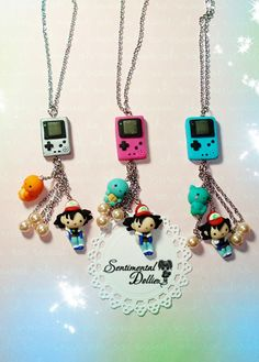 Pokemon Jewelry Pokemon Necklace Pokemon by SentimentalDollieZ, $25.00 so adorbs though...