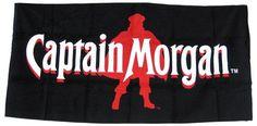 Captain Morgan Rum Silhouette Logo 35 X 70 Beach Towel