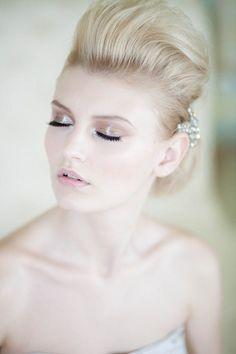 Pale Shimmer Bridal Makeup Look @dotsanddetails