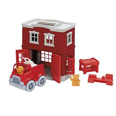 Green Toys Fire Station Playset *** Check out the image by visiting the link.Note:It is affiliate link to Amazon.