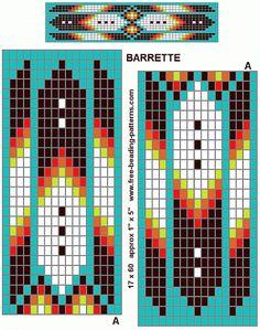 native-american-beadwork-group-turquoise-diamonds-barrette