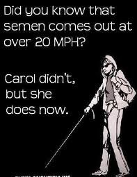 """hahaha this is only funny because of all the """"Carol didnt wear her safety glasses, now she doesnt need them"""" safety posters in every lab across the country."""