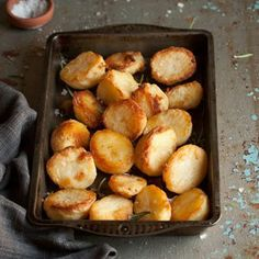 Potatoes roasted with duck fat. The potatoes crisped up really well. However, the duck fat taste just seemed a bit off or strange to me.