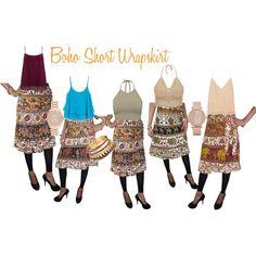 Designer Clothes, Shoes & Bags for Women Beach Wrap Skirt, Aldo, Boho Shorts, Balenciaga, Michael Kors, Skirts, Polyvore, Cotton, Stuff To Buy