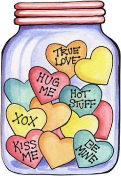 Free printable Jar…could easily be made into a card for Valentine's Day. Free printable Jar…could easily be made into a card for Valentine's Day. Valentines Day Drawing, Valentine Day Crafts, Happy Valentines Day, Valentines Day Clipart, Valentine Images, Printable Valentine, Image Digital, Karten Diy, Heart Day