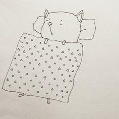 #majasbok #cat #sleeping #illustration Cat Sleeping, Bullet Journal, Children, Cats, Instagram, Design, Pictures, Young Children, Boys