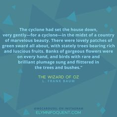 The Wizard of Oz by L. Frank Baum | #MGCarousel #IReadMG #kidlit #mglit #amreading #bookblogger #bookquote #quoteoftheday