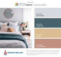 rose gold + neutrals / I found these colors with ColorSnap® Visualizer for iPhone by Sherwin-Williams: Starry Night (SW 6540), Tempe Star (SW 6229), Blonde (SW 6128), Roycroft Rose (SW 0034).