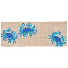 Blue Crabs Indoor Outdoor Rugs