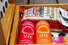 Love this idea for a guest room snack box.