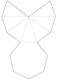 Vorlage für Hohlkörper zum Falten - Pyramide                                                                                                                                                                                 Mehr