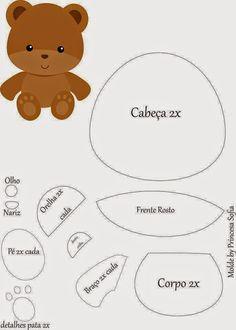 Boneca e ursinho com molde - Ver e Fazer
