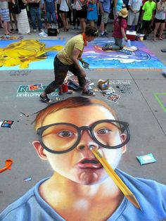 The Denver Chalk Art Festival is a feast for the senses.   Early in June each year, Larimer Square is fenced off from traffic for a free two-day chalk paining festival. Canvas? The street and sidewalks. The annual event is hosted by Larimer Arts Association, a non-profit organization whose mission is to bring arts awareness to the Denver community.