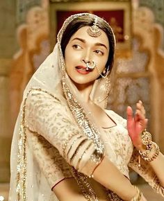 Deepika Padukone as Mastani Love this shotit looks as though it was a scene from older Indian cinema