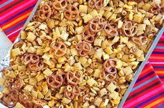 Very Special chex mix (uses 1/2 c bacon drippings with the butter) Food.com