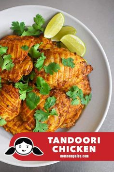 weeknight Indian-spiced super easy Tandoori Chicken is delicious and Marinate in the morning and bake in the evening!This weeknight Indian-spiced super easy Tandoori Chicken is delicious and Marinate in the morning and bake in the evening! Tandoori Marinade, Tandoori Chicken, Keto Chicken, Chicken Recipes, Tandoori Recipes, Paleo Whole 30, Whole 30 Recipes, Real Food Recipes, Healthy Recipes